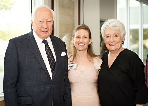 David McCullough, Linda Harper, and Avis Goldstein