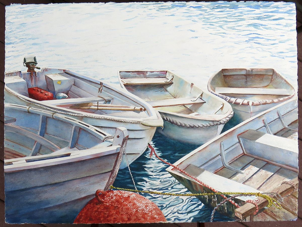 5 boats 3x4 picture