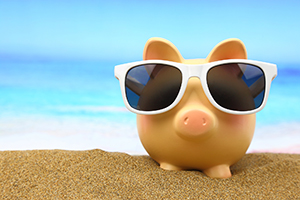 Piggy Bank on the Beach