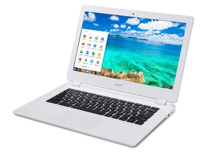 White Acer Chromebook