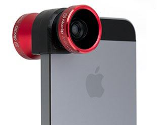 Olloclip attached to an iPhone
